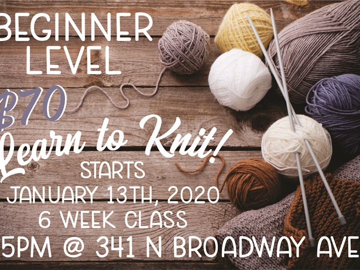 Beginner Knitting Class- Night One