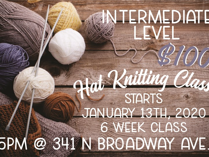 Intermediate Hat Knitting Class- Night One